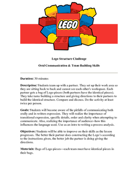 Lego Structure Challenge