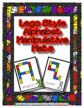 Lego Style  -  Manipulative Mats Upper & Lower Case Letters  Fine Motor Work