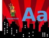 Lego Superhero Alphabet Wall Cards Print Manuscript