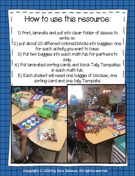 Building Block Tally and Counting: For Math Workstations