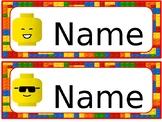 Lego Theme Cubby Tags