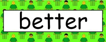 Lego Theme Sight Words - 3rd Grade Level