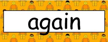 Lego Theme Sight Words - First Grade Level