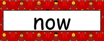 Lego Theme Sight Words - Kindergarten Level