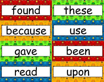 Lego Theme Sight Words - Second Grade Level