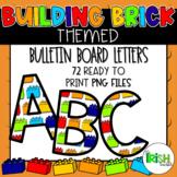 Lego Themed Bulletin Board Letters