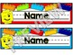 Lego Themed EDITABLE Name Desk Plates