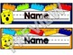 Lego Themed EDITABLE Name Desk Plates