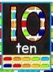 Lego Themed Number Posters with Ten Frames 0-10 FREEBIE