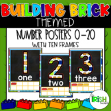 Lego Themed Number Posters with Ten Frames 0-20