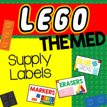 Lego Themed Supply Labels