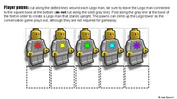 Lego Tower Conversation Game (Social Skills, Conversation Repair, On-Topic)