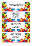 Lego Tray Labels