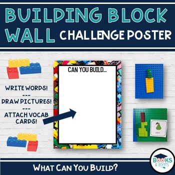 Building Block Wall or Center Challenge Poster