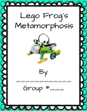 Lego WeDo 2.0 Frog Metamorphosis lab sheets