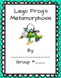 Lego WeDo 2.0 Frog Metamorphosis lab sheets