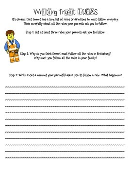 Lego Writing Traits: Ideas and Organization Unit Plan