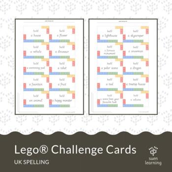 Lego® challenge cards (UK spelling) STEM activity