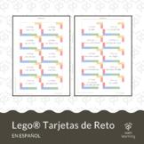 Lego® tarjetas de reto en ESPAÑOL / Lego® challenge cards