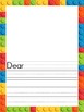 Lego themed writing papers, lists, and cards