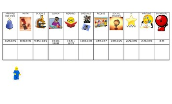 Lego visual Schedule
