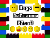 Legos Behavior Chart! Editable