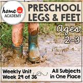 Legs & Feet Preschool Unit - Printables for Preschool, PreK, Homeschool PreK