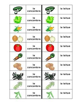 Légumes (Vegetables in French) Dominoes