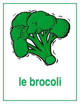 Légumes (Vegetables in French) Posters