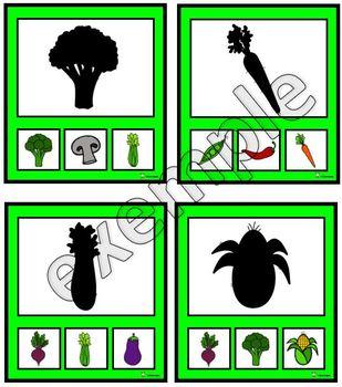 Légumes: ombres