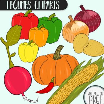 Légumes / vegetables cliparts 1