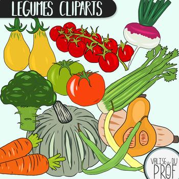Légumes / vegetables cliparts 2