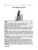 Leif Erickson Ericson - Review Article Questions Vocabulary Activities