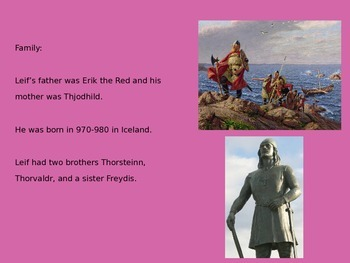 Leif Erickson Ericson - Viking Explorer - Power Point History Facts Pictures