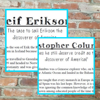 Leif Erikson or Columbus: Who Should Get Credit?