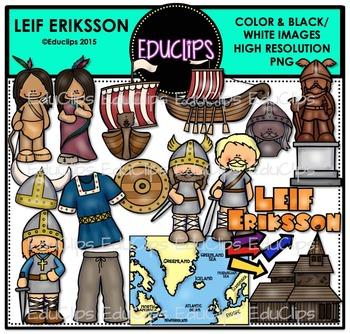 Leif Eriksson Clip Art Bundle {Educlips Clipart}