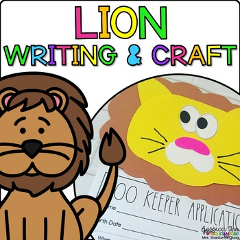 Leilani the Lion {Animal Craftivity and Writing Prompts!}