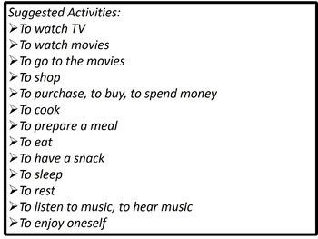 Leisure Activity Images #1 / Las imágenes de los pasatiempos