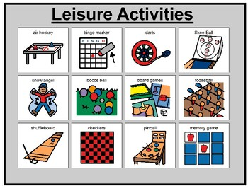 Leisure Activities Matching Board Game!