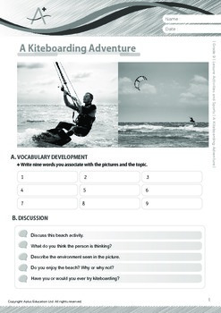 Leisure Activities and Sports - A Kiteboarding Adventure - Grade 9