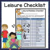 Leisure Hobby Checklist