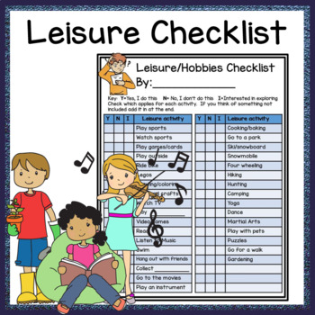 Leisure Hobby Checklist