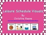 Leisure Schedule Board Freebie (Autism, Special Education)