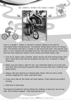 Leisure Time - Follow Safety Rules When Riding a Bike - Grade 2