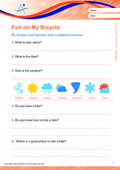 Leisure Time - Fun on My Bicycle - Grade 1