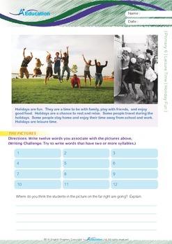 Leisure Time - Holiday Fun - Grade 6