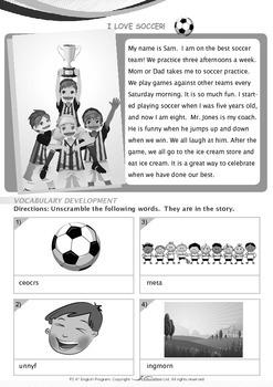 Leisure Time - I Love Soccer - Grade 2