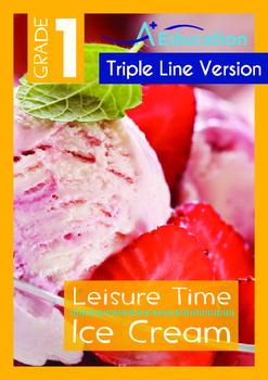 Leisure Time - Ice Cream - Grade 1 (with 'Triple-Track Wri