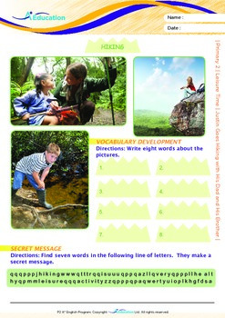 Leisure Time - Justin Goes Hiking with His Dad and His Brother - Grade 2