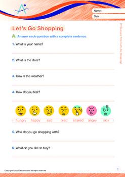 Leisure Time - Let's Go Shopping - Grade 1